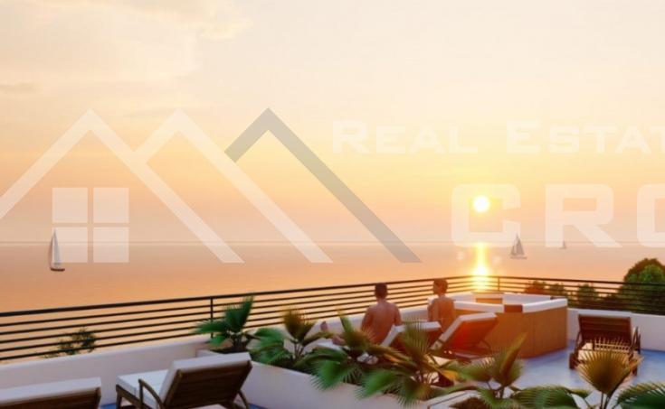 Nekretnine Čiovo - Stan u izgradnji s krovnom terasom i prekrasnim pogledom na more, na prodaju