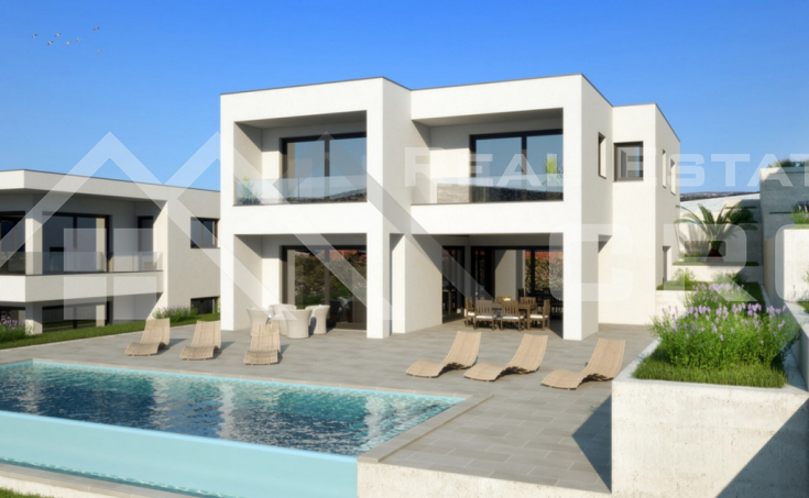 Luxury villa under construction with a swimming pool and beautiful sea view, for sale (2)