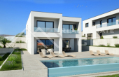 Luxury villa under construction with a swimming pool and beautiful sea view, for sale (1)