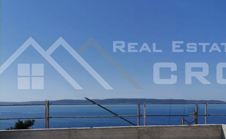Nekretnine Čiovo - Jednosobni penthouse u izgradnji s pogledom na more i krovnom terasom, na prodaju