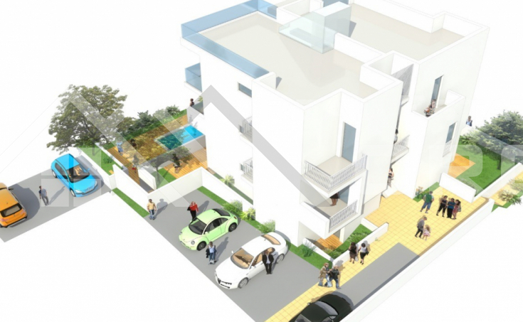 Ciovo properties - Attractive penthouse under construction with a roof terrace and beautiful sea view, for sale