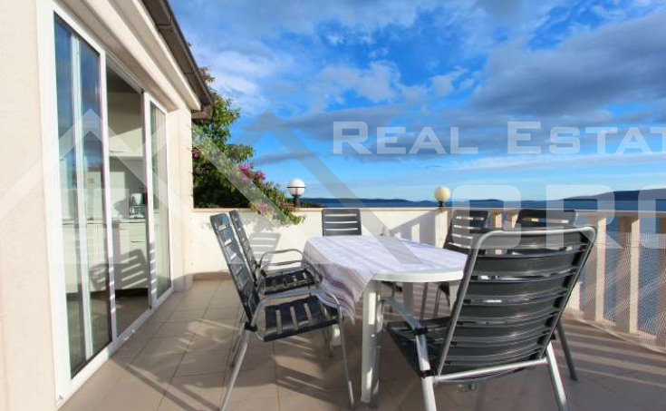Ciovo properties – House with open sea view close to the beach, for sale