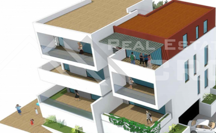 Ciovo properties - Attractive apartment under construction with beautiful sea view, for sale