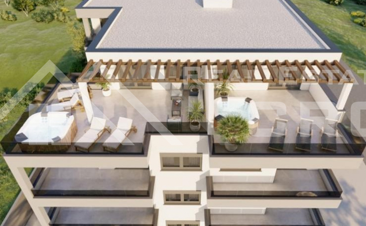 Ciovo properties - Luxury penthouse with sea view under construction, for sale.