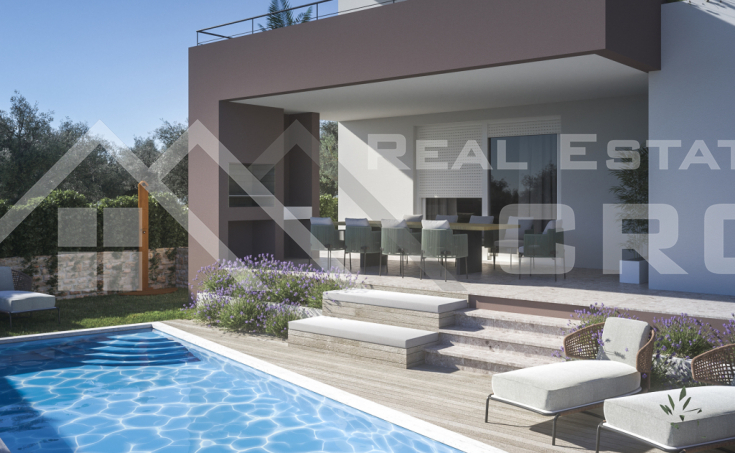 Beautiful modern villa under construction with pool, for sale (6)