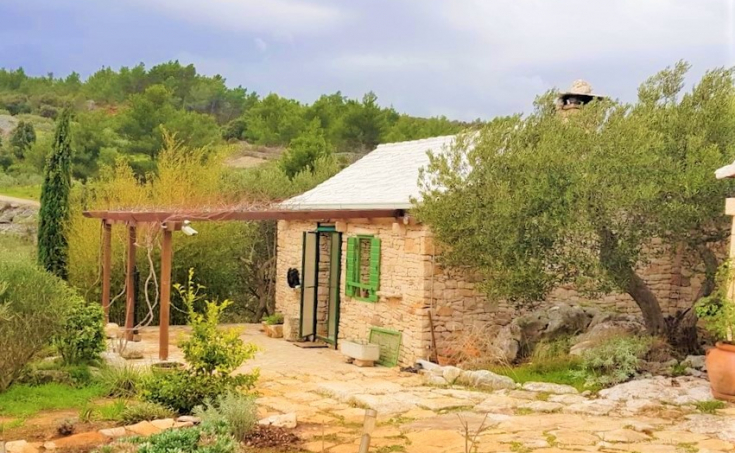 Brac properties - Farmland with a living unit and beautiful sea view, for sale
