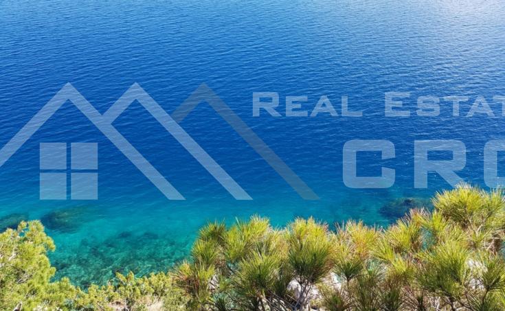 Nekretnine Omiš - Izvrsno građevinsko zemljište s krasnim pogledom na more, okolica Omiša, na prodaju